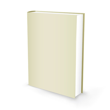 hardback: The white presentation book isolated on the white background