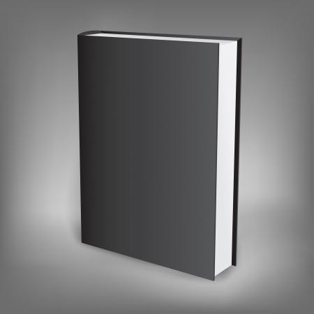 hardback: The black presentation book isolated on the dark background