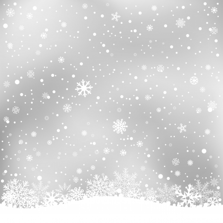 wintry: The white snow on the soft light gray mesh background, winter theme. No transparent objects