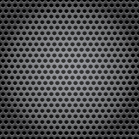 perforated surface: metal grid background