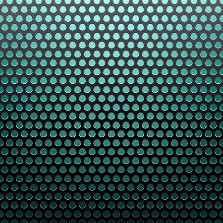 netty: metal grid blue light background