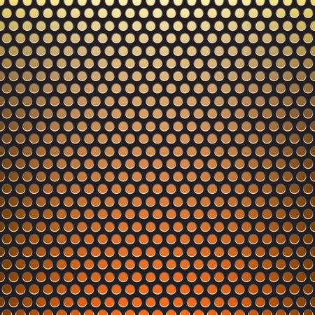 netty: metal grid fire background Illustration