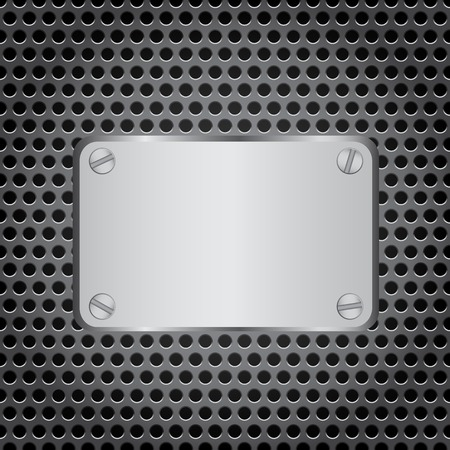netty: metal label grid background