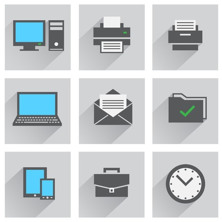 object printing: office icon set