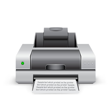 laser printer: printer icon Illustration