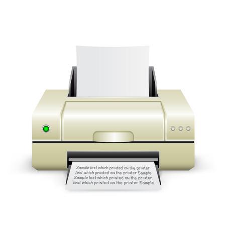 printed machine: white printer icon
