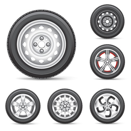 set of tires Vector