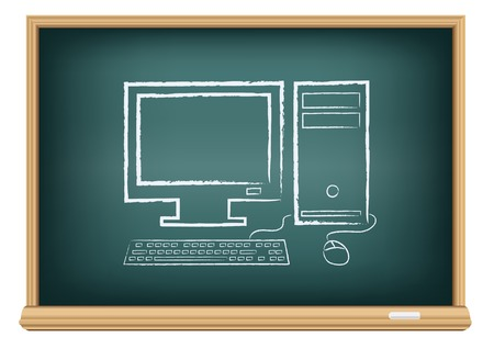 board desktop computer Vector