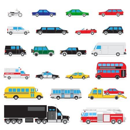 combi: simple auto icon set Illustration