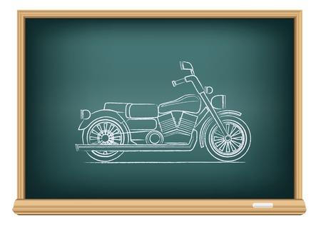 board motorcycle Vector