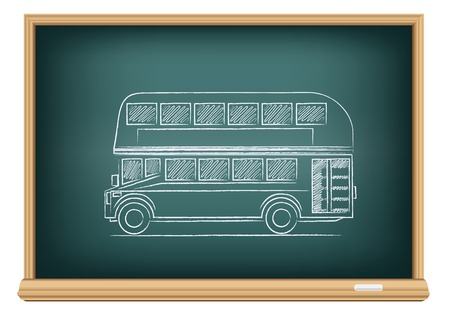 two storey: board English bus