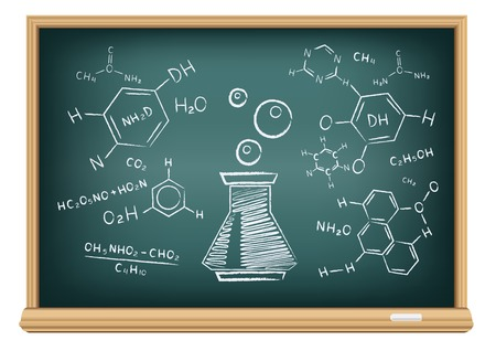 board chemistry Vector