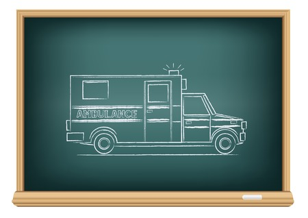 board ambulance Vector
