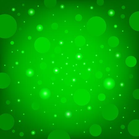 glitter gloss: The circular random effects green dark bokeh background Illustration