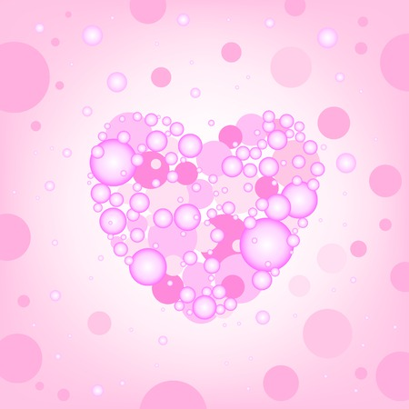 The circular random effects have create heart on the pink background