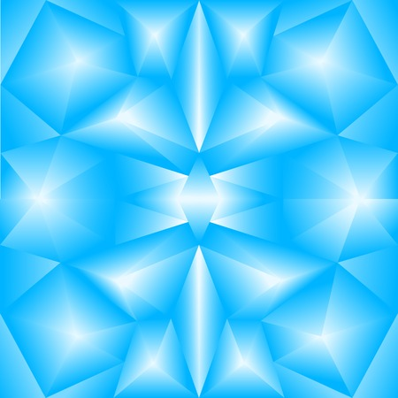 The abstract random triangular blue gradient background