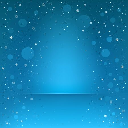 The area for the podium and falling snow on the blue mesh background