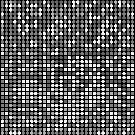 Shining disco mosaic background with black, gray, white colors. Round pixels are easily editable.