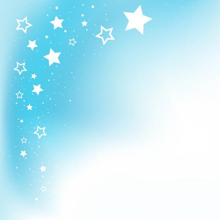 별에게 메시지 파란색 배경 및 copyspace 꿈 일러스트