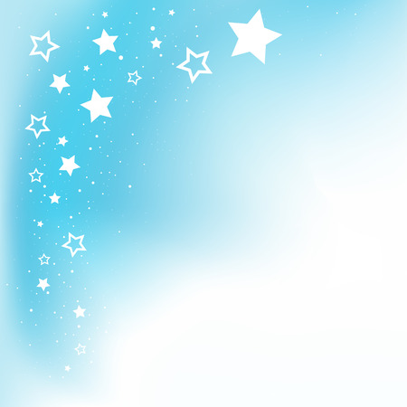 Dream stars blue background and copyspace for message