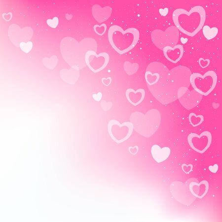 Dream transparent pink hearts background and copyspace for message