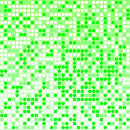 Light green pixel mosaic background with light and dark green colors. Pixels are easily editable. Illustration