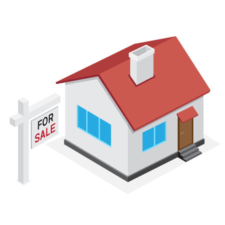 for: Simple house icon. Home for sale on white background.