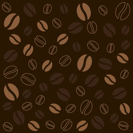 The coffee bean on dark brown background. Food and drink texture