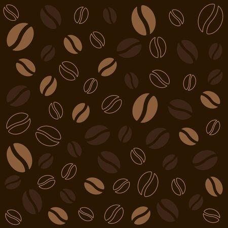 dark brown background: The coffee bean on dark brown background. Food and drink texture