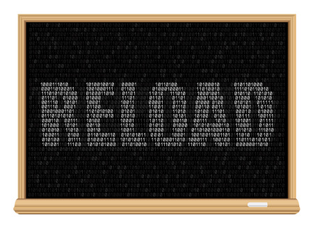 The programming code on education blackboard and message reload, easy to edit Illustration