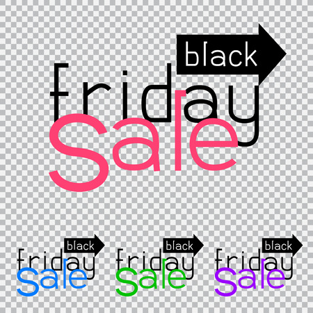 mart: The sale way direction on transparent background. Black friday discount sticker