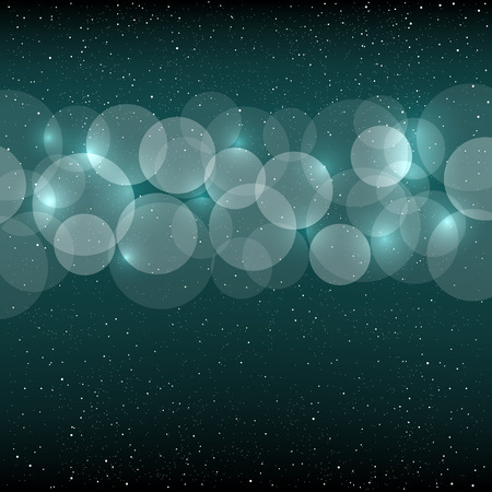 azure: Azure blue bokeh background with small white circles. Christmas and New Year backdrop