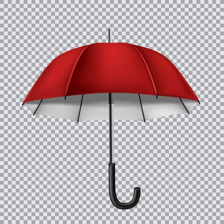 disclosed: The red opened umbrella isolated on transparent background Stock Photo