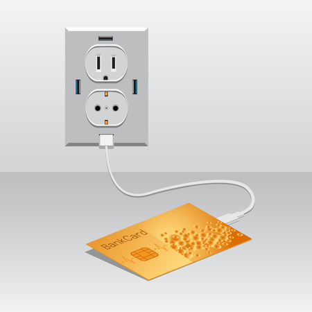 Golden BankCard charged usb
