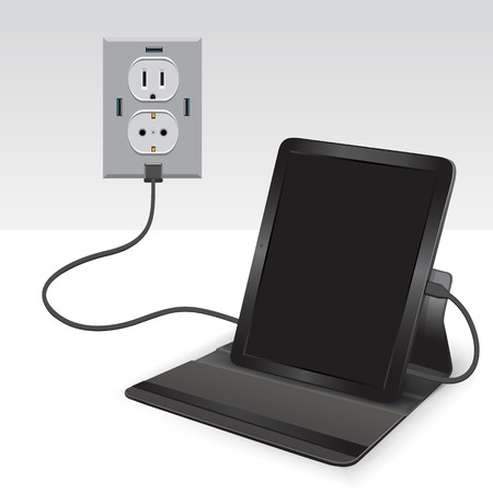 charged: black tablet charged usb