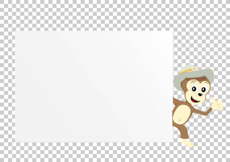 monkey paper transparent Stock Photo