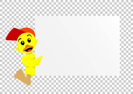 duck paper transparent Stock Photo