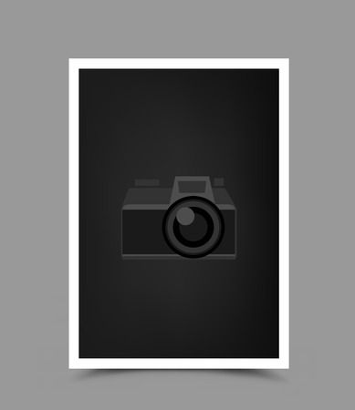 a4 paper photo icon vertical