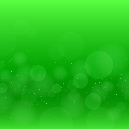Nature green circles bokeh with pollen spring or summer background. Illustration
