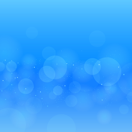 Nature blue water circles bokeh. Underwater background. Illustration