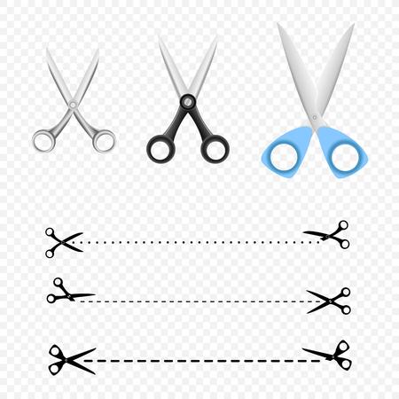 Different Scissors set Illustration