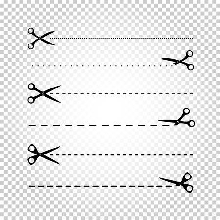 trim: Scissors line cut