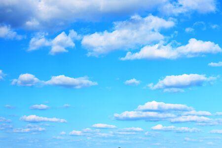skylight: blue sky many clouds