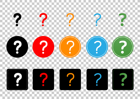 Question mark sign icon set collection. Illustration