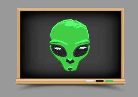 blackboard alien lesson