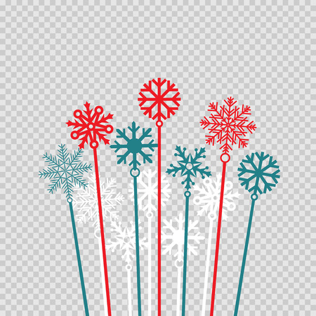 Christmas winter candy sweet snowflakes Ilustrace