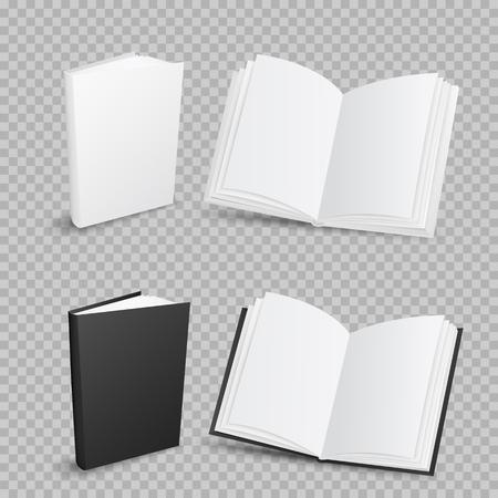 Boeken op transparante achtergrond Stock Illustratie