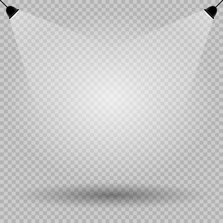 Lights shadow empty template transparent.