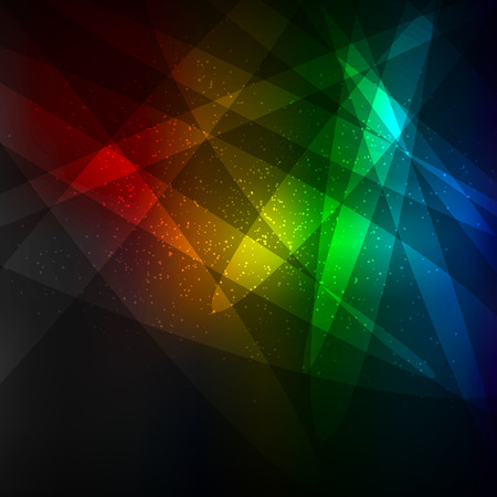 Rainbow colors dark lights template background. Natural radiance vector illustration backdrop.