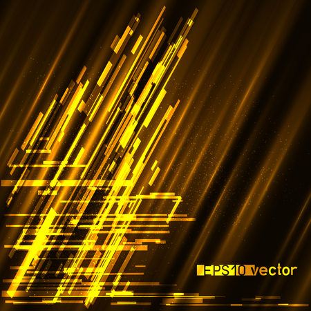 Glitch light gold surface background template. Abstract glitch golden vector design backdrop.